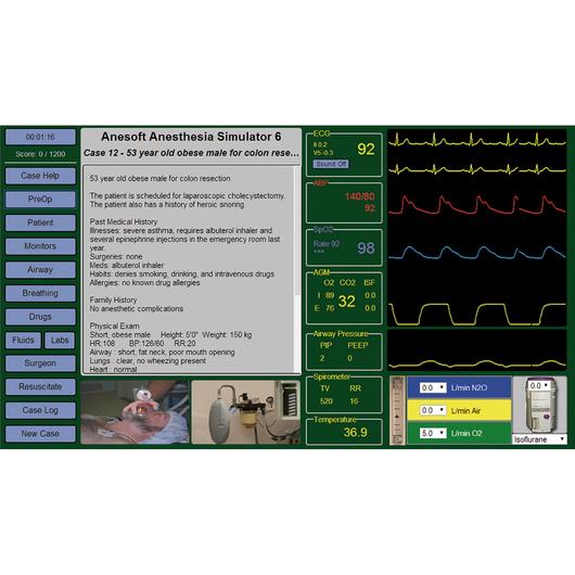 Medical Simulation Software - Anesthesia Simulator 6